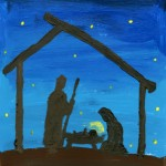 Child's Nativity Painting