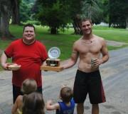 2011 Boat Race Trophy Handoff