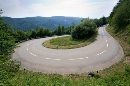 Hairpin in alps