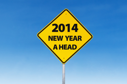 Road sign to new year