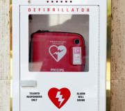 A HeartStart Automated External Defibrillator (AED)